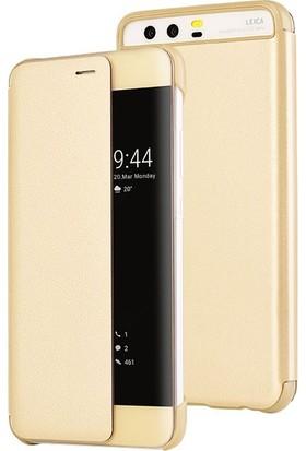 Sonmodashop Huawei P10 Plus Smart View Uyku Modlu Akıllı Mod Flip Cover Kılıf