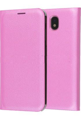 Sonmodashop Samsung Galaxy J7 Pro J730 Wallet Flip Cover Kapaklı Kılıf + Cam
