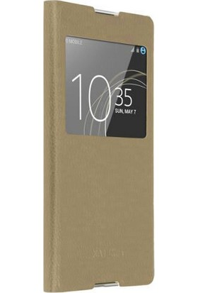 Sonmodashop Sony Xperia XA1 Ultra Flip Cover Kapaklı Pencereli Kılıf