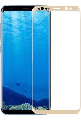 Sonmodashop Samsung Galaxy S8+ Plus 3D Kavisli Full Tam Cam Ekran Koruyucu