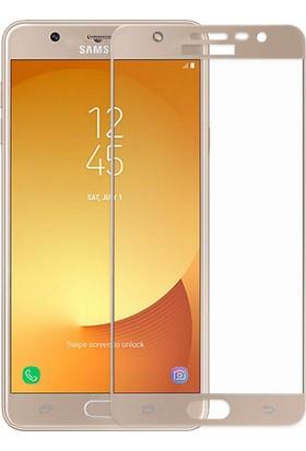 Sonmodashop Samsung Galaxy J7 Pro J730 3D Tam Ekran Koruyucu Cam