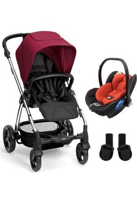 Mamas & Papas Sola 2 Chrome Red Travel Sistem Bebek Arabası