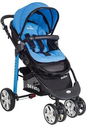 Beneto BT520 Trio Sport Line Bebek Arabası Mavi