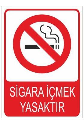 Este Uyarı Levhaları Sigara İçmek Yasaktır 25 X 35 Cm Uyarı Levhası