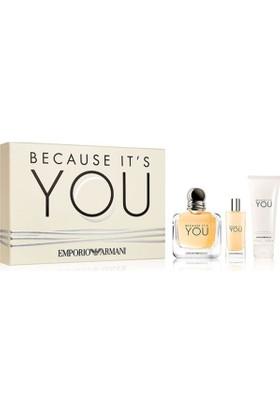 Emporio Armani Because It's You Edp 100 Ml Kadın Parfüm +15 Ml Kadın Parfüm + 75 Ml Vücut Losyonu Set