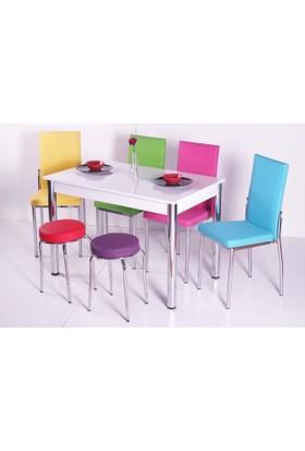 Evform Mutfak Masa Takımı Masa Sandalye Tabure Seti Mutfak Masası
