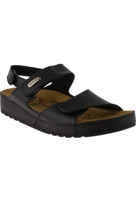 Muya 27249 6 Nokta Siyah Kadın Sandalet