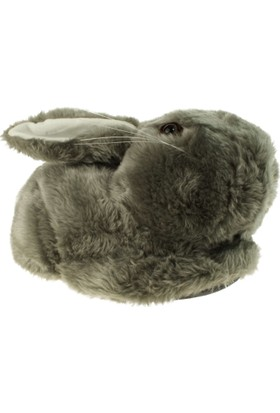 Twigy L0521 Tw Zulu Tavşan Gri Kadın Panduf