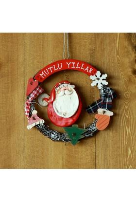 Kikajoy Noel Baba Figürlü Seramik Kapı Süsü - 1 adet