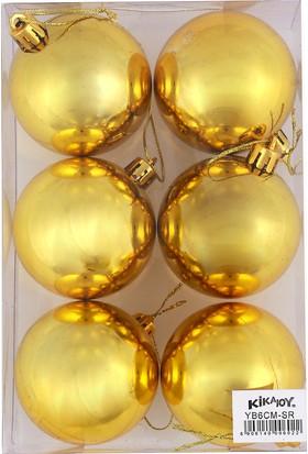 Yb6Cm Ağaç Süsü Cici Toplar 6Lı Gold