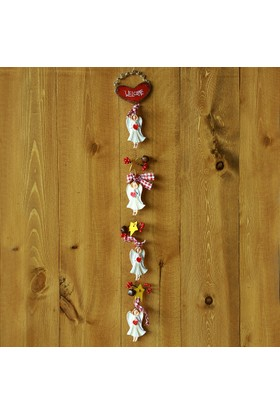 Kikajoy Seramik Melek Figürlü Kapı Süsleri - 1 adet