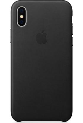 Apple iPhone X Deri Kılıf Siyah - MQTD2ZM/A (Apple Türkiye Garantili)