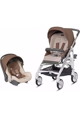 Inglesina Trilogy Comforth Touch Bebek Arabası + Huggy Anakucağı / Coffee Cream