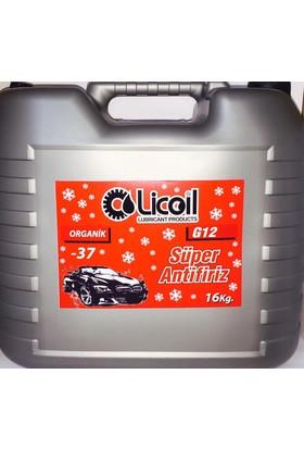 Licoil Organik G12 Kırmızı Antifiriz -37 Derece 16Kg Bidon