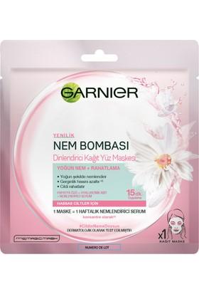 Garnier Nem Bombası Dinlendirici Kağıt Yüz Maskesi Hassas ve Kuru Ciltler İçin