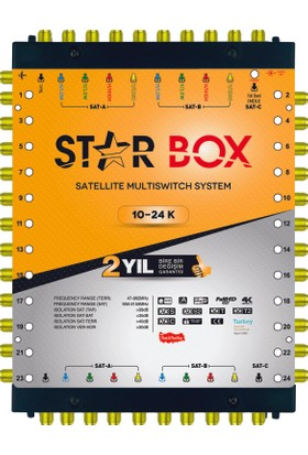 Starbox 10/24 Kaskatlı Multiswitch Uydu Santrali