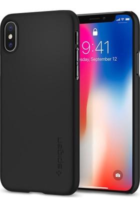 Spigen Apple iPhone X Kılıf Thin Fit Ultra İnce Black - 057CS22108