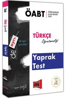 Yargı Yayınları Öabt De Ayrı Türkçe Öğretmenliği Yaprak Test