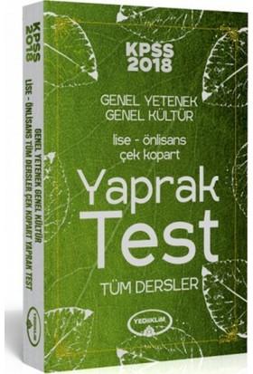2018 Kpss Lise-Önlisans Çek Kopart Yaprak Test Yediiklim Yayınları