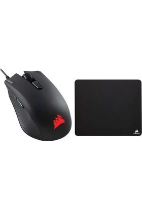 Corsair Gaming Harpoon RGB ve Mouse+ MM100 Kumaş Mouse Pad