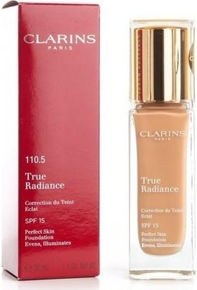 Clarins True Radiance Foundation SPF15 110.5 Almond 30ml