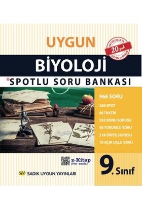 Sadık Uygun Yayınları 9.Sınıf Biyoloji Spotlu Soru Bankası