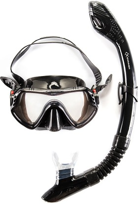 Anax Swimmer Dalış Maske/Şnorkel Seti Siyah