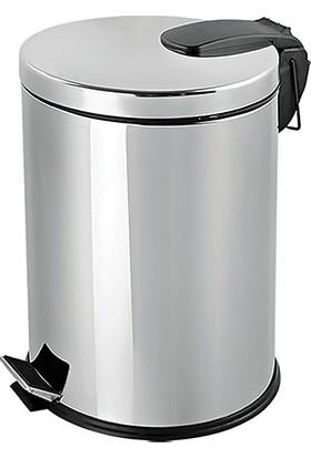 Flosoft Paslanmaz Çelik Pedallı Çöp Kovası 30 Lt
