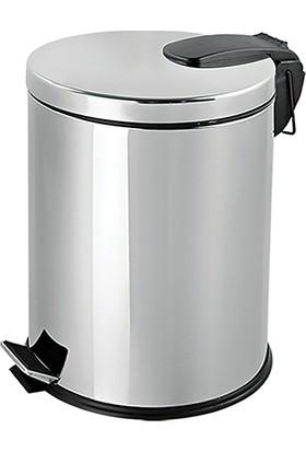 Flosoft Paslanmaz Çelik Pedallı Çöp Kovası 20 Lt