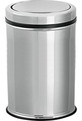 Flosoft Pratik Kapaklı Paslanmaz Çöp Kovası 32 Lt