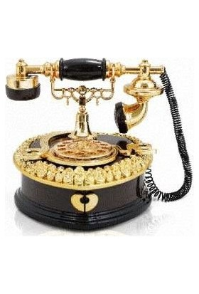 MamaCamilla Hareketli Nostaljik Telefon Müzik Kutusu Mücevherlik Takı Kutusu Kahverengi