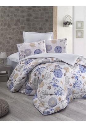 Cotton Box Ranforce Çift Kişilik Uyku Seti Lola Mavi