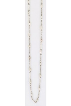 Sufi Design, Küçük Boy Gerçek Yaprak Has Gümüş Kaplama, Örme Gümüş Zincir Moonstone Taşlı