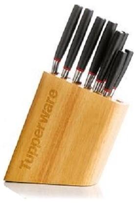 Tupperware Platinum Bıçak Seti Ve Bambu Standı