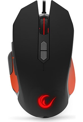 Everest Rampage STRIKE SMX-R14 Siyah/Turuncu 9 Tuş Gaming RGB Mouse