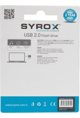 Syrox 4Gb Metal Usb Bellek