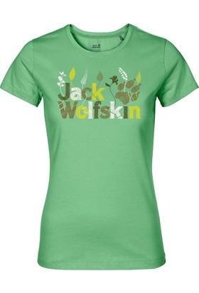 Jack Wolfskin Brand T Kadın T-Shirt 1804391 / Spring Green