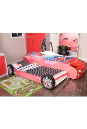 Mobika 3D Yavrulu Arabalı Yatak Kırmızı