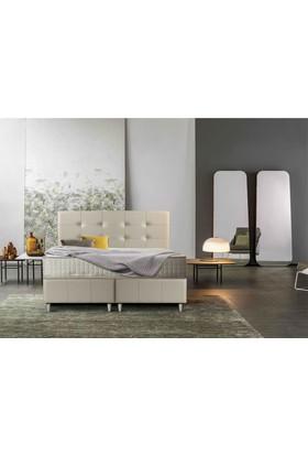Sanatde Otantic Demonte Çift Kişilik Baza + Yatak + Başlık Set 150X200 Cm