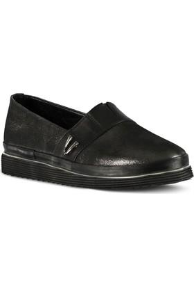 Marjin Vufa Düz Ayakkabı Platin