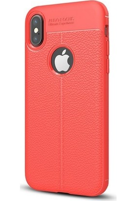 Case Man Apple iPhone X Silikon Kılıf Auto Focus Nisson + Ekran Bakım Kiti + Nano Cam