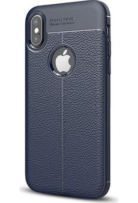 Case Man Apple iPhone X Silikon Kılıf Auto Focus Nisson + Ekran Bakım Kiti + Nano Cam