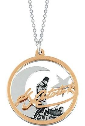 Aez Sılver Atatürk Gümüş Kolye