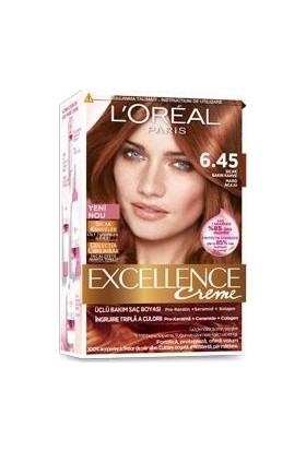 Loreal Paris Excellence Creme Saç Boyası 6.45 Sıcak Bakır Kahve