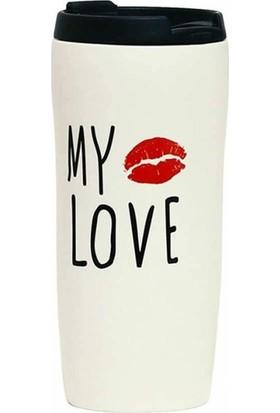 My Love Yazılı Termos
