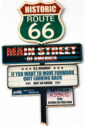 Historic Route 66 Metal Tablo