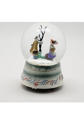 Kış Masalı Sevgili Müzikli Kar Küresi