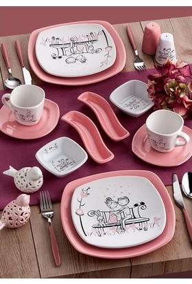 Keramika Takim Köşem Kahvaltı 14 Parça 2 KişilikTatli Düş