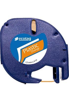 Ecotag Dymo Letratag Muadili Plastik Şerit Etiket 12 mm x 4 mt