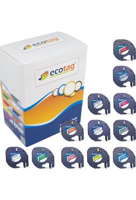 Ecotag Dymo Letratag Muadili Plastik Şerit Etiket Avantaj Paket